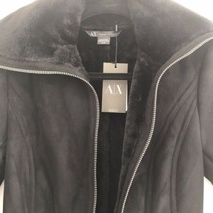 A/X Armani Exchange Jackets & Coats - NWT ARMANI EXCHANGE FAUX FUR LINED SUEDE COAT XS